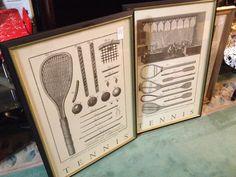 Vintage tennis art