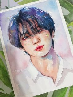 fa you're my sun, my moon and all my stars ✨ (art prints order link in bio) . Jungkook Fanart, Kpop Fanart, Bts Jungkook, Inspiration Art, Art Inspo, Watercolor Drawing, Watercolor Paintings, Bts Art, Kpop Drawings