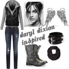 """MY Daryl Dixion Outfit"" by victoria-fowler on Polyvore"