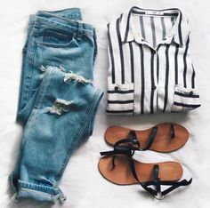 stripes + denim #ragandbone