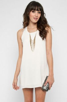 Tieback Dress in White $32 at www.tobi.com