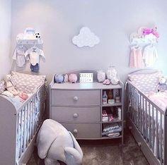 Grey Nursery Idea for Twins