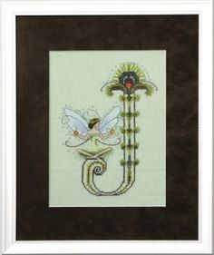 "From Nora Corbett's Series titled Letters From Nora is this cross stitch pattern titled ""J"".  The cross stitch pattern is stitched with Cres..."