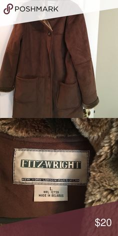Winter coat large Brown Fitz-wright winter coat 36' Fitz-wright Jackets & Coats