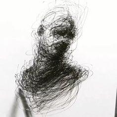 Art drawings Avengers, Samuel L. Dark Art Drawings, Art Drawings Sketches, Creepy Drawings, Pencil Drawing Images, Drawing Ideas, Art Mur, Scribble Art, Charcoal Art, Charcoal Sketch