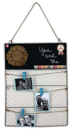 You and Me Wire Organizer by @Crafts Direct