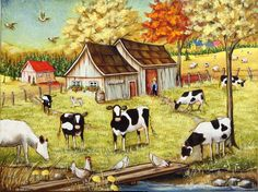 Christine Genest ~ Happiness Moments***I especially like the barn...for watercolor crayons.