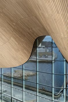 Kilden Performing Arts Centre, Kristiansand, 2012 - ALA Architects #glass #wood #curves #architecture