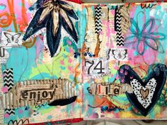 art journal page in