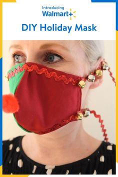 Diy Ugly Christmas Sweater, Ugly Sweater, Diy Christmas Gifts, Christmas Projects, Holiday Fun, Christmas Crafts, Tacky Christmas, Diy Mask, Diy Face Mask