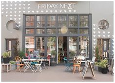 Friday Next, a concept store, cafe, interior design shop and gallery space in one in Amsterdam. Cafe Interior, Shop Interior Design, Cafe Design, Store Design, Exterior Design, Interior And Exterior, Design Shop, Retail Interior, Cafe Restaurant