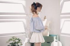 Japanese fashion two sides wear striped shirt - AddOneClothing - 2