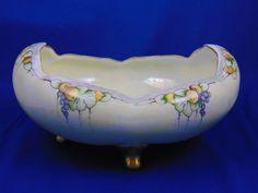 "Oscar & Edgar Gutherz (O&EG) Austria Arts & Crafts Fruit & Lustre Motif Footed Bowl (Signed ""N.W. Guthrie""/c.1899-1918)"