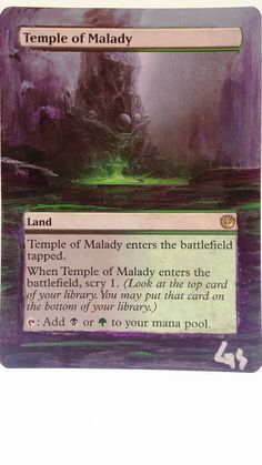 MTG Altered Art Temple of Malice Hand Painted Full Art OOAK Magic Card Glendora #WizardsoftheCoast  Nice  :~)