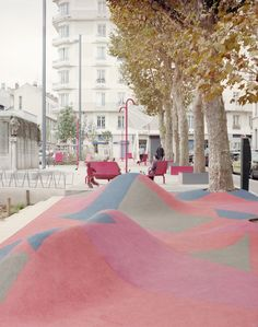 Just plain FUN!  'Urban Lounge' in Saint-étienne, France, designed by AWP office for territorial reconfiguration, Paris