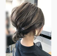 Pin on hair Bob Haircut For Fine Hair, Cute Hairstyles For Medium Hair, 2015 Hairstyles, Medium Hair Styles, Messy Hairstyles, Short Grunge Hair, Short Hair Cuts For Round Faces, Short Hair Ponytail, Shot Hair Styles