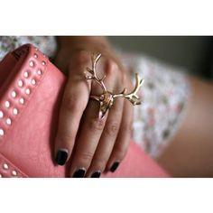 Elenora Deer Skull Ring