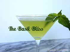 Oh, basil. You are so delicious in so many things, including this refreshing cocktail.