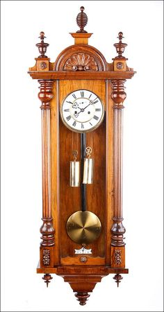 no.32 WOODEN FINIALS,TURNED TO THE ANTIQUE CLOCK BECKER ..
