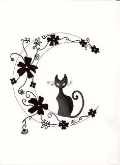 black moon cat #Art #AnimalArt