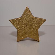 Glittery Gold Star Decorative Gift Box by MixedMediaDesigns1, $7.00