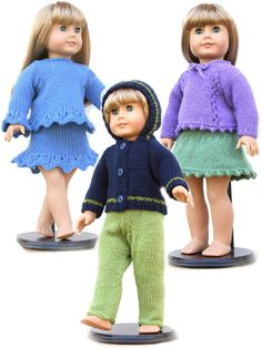 "18"" Doll Sweaters Collection Three"