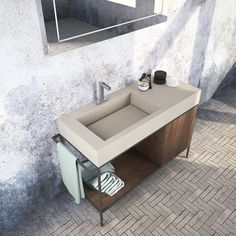 Bathroom furniture_Yosemite surface by Cleaf