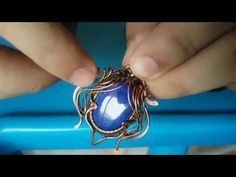 """(1) TUTORIAL -ISH OF """"BLUE BEETLE"""" PENDANT WIRE WRAPPING - YouTube"""