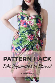 5346a89e3c2 Butterick Patterns by Gerite B6354 - Bustier to Skirt Tiki Dress Pattern  Hack! An easy