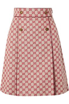 Gucci - Leather-trimmed Cotton-blend Canvas Mini Skirt - Beige skirt skirt skirt skirt outfit skirt for teens midi skirt African Fashion Dresses, African Dress, Skirt Mini, Mini Skirts, Gucci, Skirt Outfits, Dress Skirt, Silk Crepe, Outfits For Teens