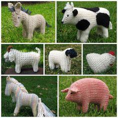 Farm Animals E-Book PDF, knitting, Instant Digital Download