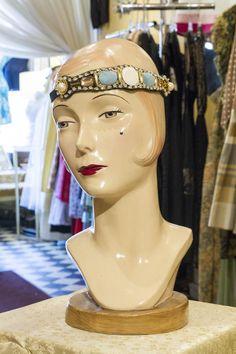 Cabaret Vintage - Vintage Style Cyan Mirooka Headband, $79.00 (http://www.cabaretvintage.com/flapper-dresses/flapper-headpieces/vintage-style-cyan-mirooka-headband/)