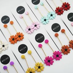✨ NEW BRAND ✨ . . Introducing the newest girl boss to join the Timber & Cotton family. A massive welcome to Monique from @moloudesigns. Monique makes these gorgeous polymer clay flower earrings and when we saw them we knew that we had to have them. . . This flower design will be available in statement studs and dangles (like above). Best of all we have a variety of colours available 😍 Will you be adding these two your collection? . . Available online THIS WEDNESDAY night at 8pm (AEST)…