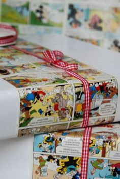 Liebesbotschaft - use comic book forum gift wrapping Present Wrapping, Creative Gift Wrapping, Creative Gifts, Wrapping Ideas, Craft Gifts, Diy Gifts, Best Gifts, Invitation Fete, Chocolate Easter Bunny