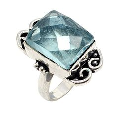 Silvesto Jaipur Blue Quartz Gemstone 925 Silver Plated Ring Jewelry SZ 7 PG 1121 Silvesto Jaipur http://www.amazon.com/dp/B01C9Y622O/ref=cm_sw_r_pi_dp_gIQ6wb15K38WG