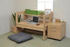 Rakuten: PC desk PC desk desk wagon low desk, two points of desk study work desk desk desk sets, system desk side chest 100cm in width belonging to- Shopping Japanese products from Japan