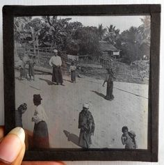 India 1930s Antique magic lantern glass Slide Photo Japanees People #Gs-38