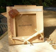 Handmade Photo Frame  ECOUpcycledGreen Products OOAK by micastudio, $16.59