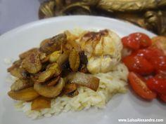 Bifinhos de Frango Recheados com Bacon e Queijo com Cogumelos e Arroz Thai Jasmin photo DSC02720.jpg