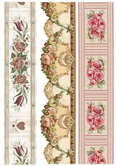 Printable border for dollhouse Printable Lables, Printable Paper, Printable Border, Vintage Paper, Vintage Art, Doll House Wallpaper, Paisley Art, Border Embroidery Designs, Doll House Crafts