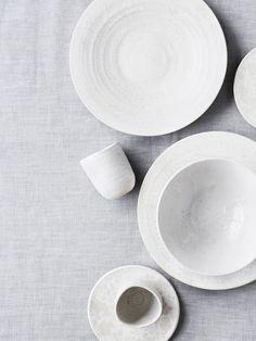 White ceramic dinnerware | Little Things Interiors