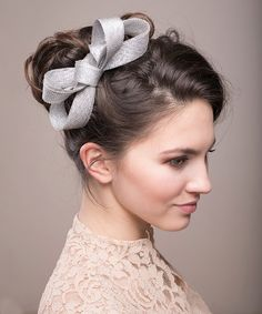 7 Beyond Gorgeous Hair Accessories for Every Member of Your Bridal Squad - Silver Bow Headpiece from InStyle.com
