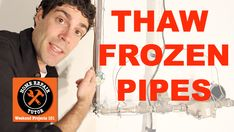 Thaw and Prevent Frozen Pipes... A little late for this since it already happened but for next year.