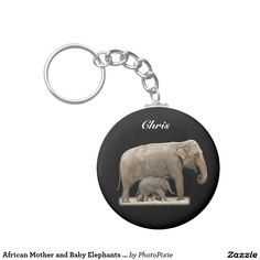 African Mother and Baby Elephants Personalized