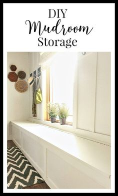 DIY mudroom storage.