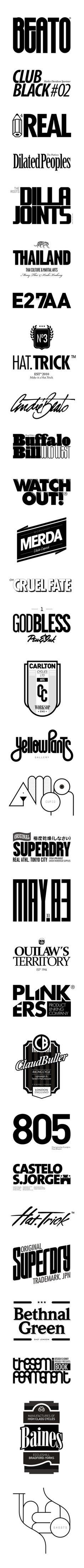 Round by André Beato, via Behance. So much awesomesauce here. Typography Prints, Graphic Design Typography, Branding Design, Design Logos, Lettering, Letter Logo, Design Reference, Art Logo, Graphic Design Inspiration