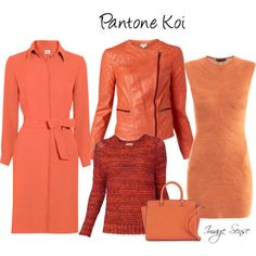 Are you afraid of wearing orange? Why not try Pantone Koi-A top ten fashion colour for A/W13 #colour sense