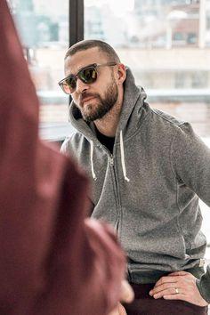 Justin Timberlake - we love menswear Justin Timberlake, Hair And Beard Styles, Short Hair Styles, Haircuts For Men, Bearded Men, Handsome, Menswear, Celebs, Mens Fashion