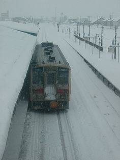 Winter train in Hokkaido