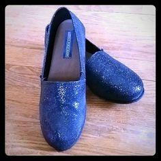 #Designer #USPOLOASSN #Polo #RalphLauren #Black #Sparkly #Flats #Shoes EUC